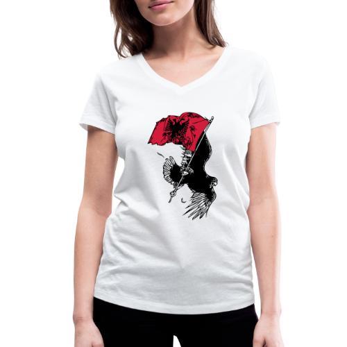 Albanischer Adler - Frauen Bio-T-Shirt mit V-Ausschnitt von Stanley & Stella