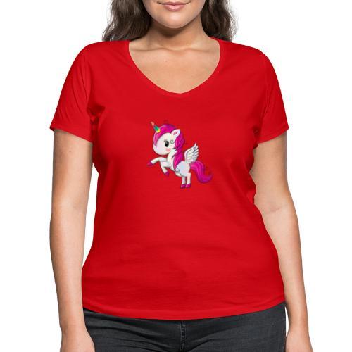 Unicorn minipony collection! - T-shirt ecologica da donna con scollo a V di Stanley & Stella