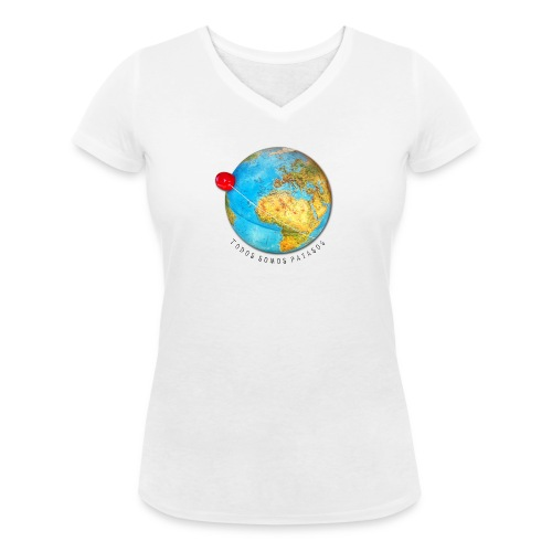 planeta-payaso-europa - Camiseta ecológica mujer con cuello de pico de Stanley & Stella