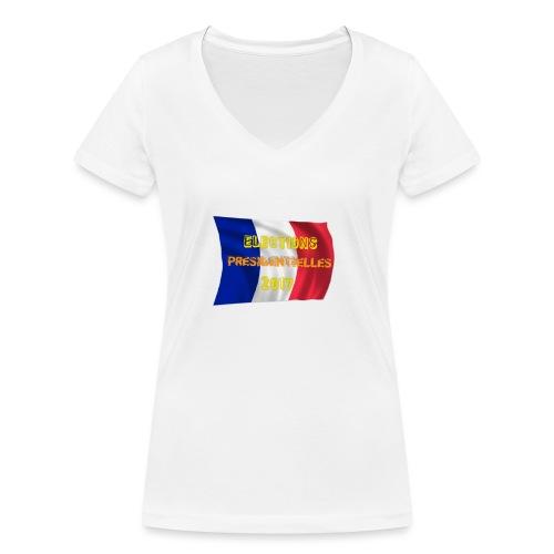ELECTIONS 2017 - T-shirt bio col V Stanley & Stella Femme