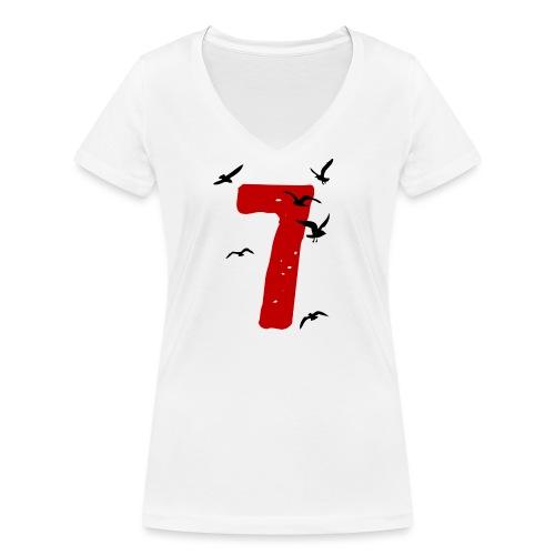 When the seagulls follow the trawler - Women's Organic V-Neck T-Shirt by Stanley & Stella