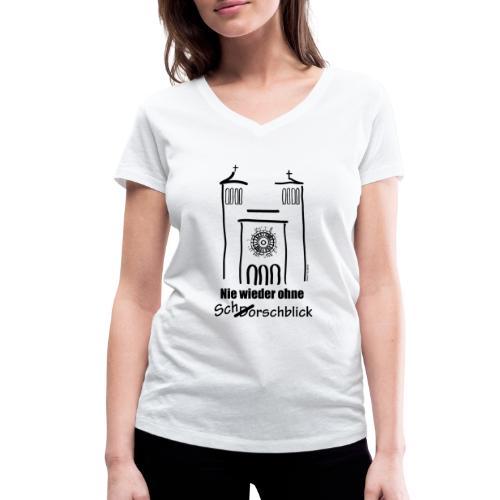 Schorschblick schwarz - Frauen Bio-T-Shirt mit V-Ausschnitt von Stanley & Stella