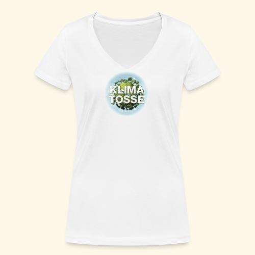 Klimatosse Klode - Økologisk Stanley & Stella T-shirt med V-udskæring til damer