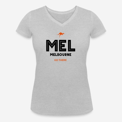 MELBOURNE! VAI LI! - T-shirt ecologica da donna con scollo a V di Stanley & Stella