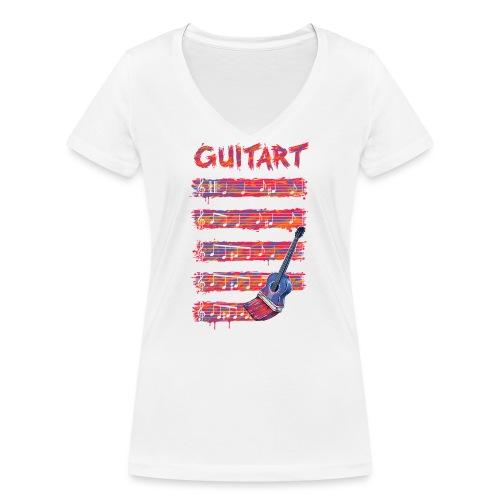GuitArt - Women's Organic V-Neck T-Shirt by Stanley & Stella