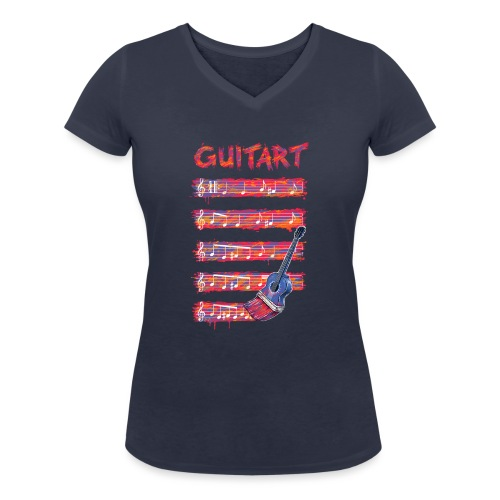 GuitArt - Women's Organic V-Neck T-Shirt by Stanley & Stella