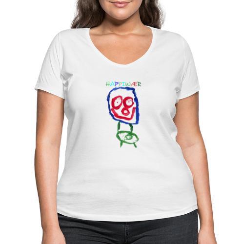 happiwær2 - Økologisk Stanley & Stella T-shirt med V-udskæring til damer