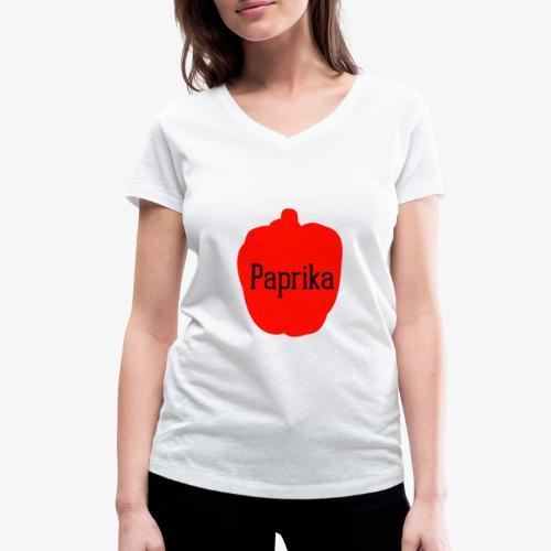 Paprika - Frauen Bio-T-Shirt mit V-Ausschnitt von Stanley & Stella