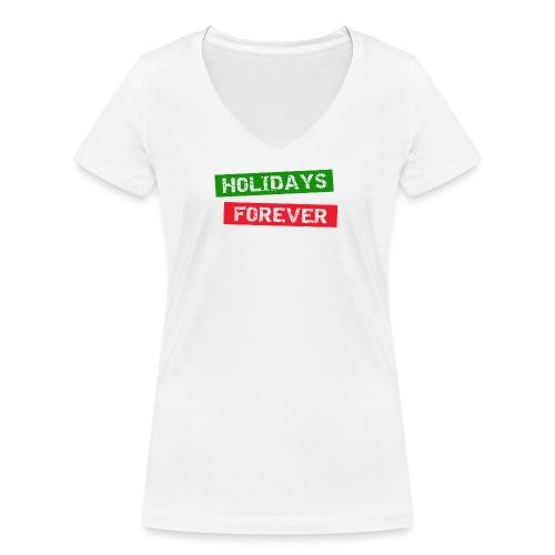 holidays forever - Frauen Bio-T-Shirt mit V-Ausschnitt von Stanley & Stella