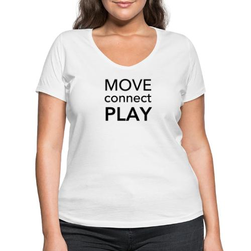 Move Connect Play - AcroYoga International - Women's Organic V-Neck T-Shirt by Stanley & Stella