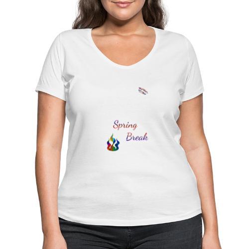 Spring Break Shirt Randy Design - Frauen Bio-T-Shirt mit V-Ausschnitt von Stanley & Stella