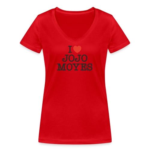 I LOVE JOJO MOYES - Økologisk Stanley & Stella T-shirt med V-udskæring til damer