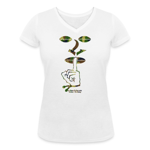 LSEUV camouflage Top png - T-shirt bio col V Stanley & Stella Femme