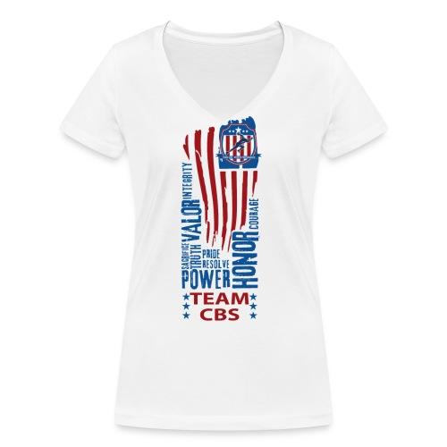 US CBS - Frauen Bio-T-Shirt mit V-Ausschnitt von Stanley & Stella