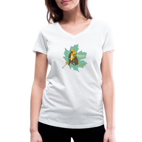 Erdmännchen Herbstfreunde Umarmung - Let's hygge - Frauen Bio-T-Shirt mit V-Ausschnitt von Stanley & Stella