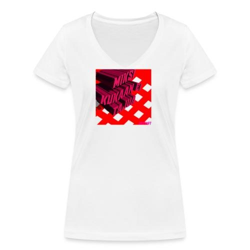 KukaaEiTajuu - Stanley & Stellan naisten v-aukkoinen luomu-T-paita