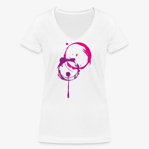 Kreise - Frauen Bio-T-Shirt mit V-Ausschnitt von Stanley & Stella
