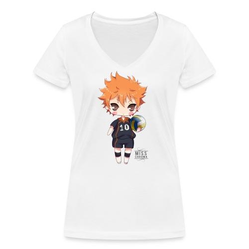 Haikyuu! shopper - T-shirt ecologica da donna con scollo a V di Stanley & Stella