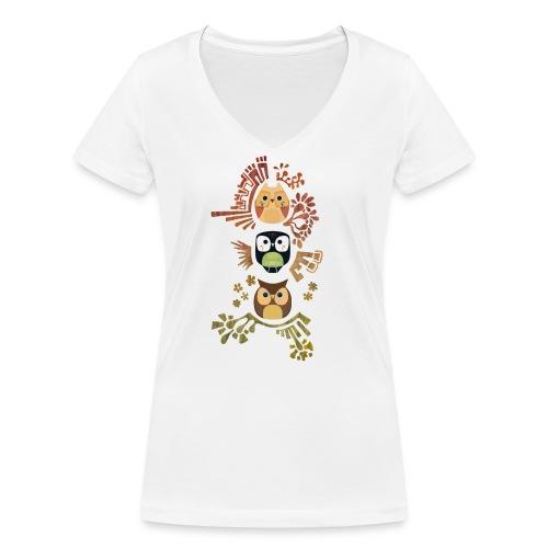 Good Wise Owls - Frauen Bio-T-Shirt mit V-Ausschnitt von Stanley & Stella