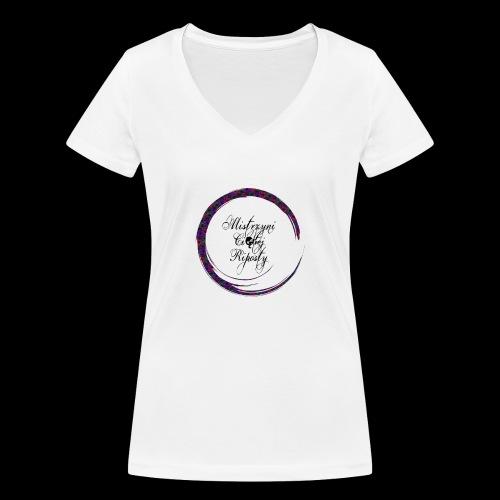 Własny Projekt - Ekologiczna koszulka damska z dekoltem w serek Stanley & Stella