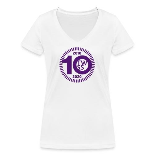 TWSS 10-jähriges Jubiläumslogo - Frauen Bio-T-Shirt mit V-Ausschnitt von Stanley & Stella