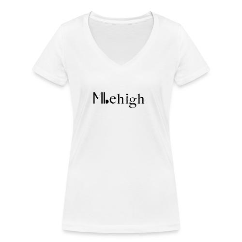 Milehigh Rags Logo Black - Økologisk T-skjorte med V-hals for kvinner fra Stanley & Stella