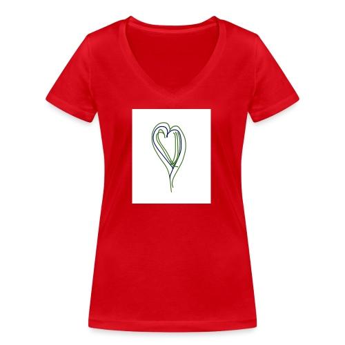 Corazon - Camiseta ecológica mujer con cuello de pico de Stanley & Stella