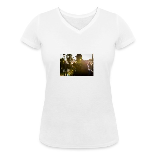 Shaka saxo - T-shirt bio col V Stanley & Stella Femme