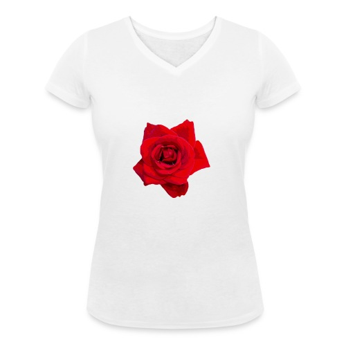 Red Roses - Ekologiczna koszulka damska z dekoltem w serek Stanley & Stella