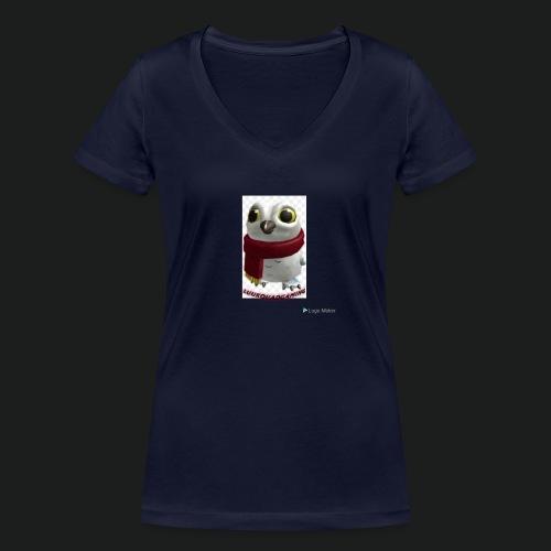 Merch white snow owl - Vrouwen bio T-shirt met V-hals van Stanley & Stella