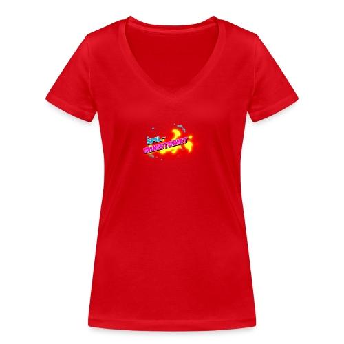 Spilministeriet - Økologisk Stanley & Stella T-shirt med V-udskæring til damer