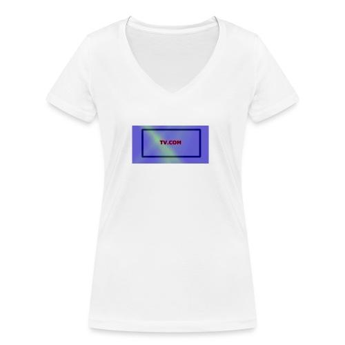 TV.COM - Stanley & Stellan naisten v-aukkoinen luomu-T-paita