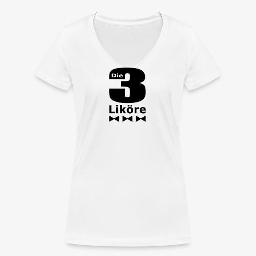 Die 3 Liköre - logo schwarz - Frauen Bio-T-Shirt mit V-Ausschnitt von Stanley & Stella