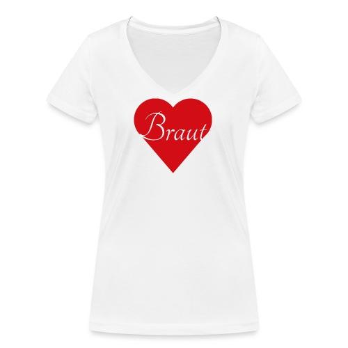 Braut - Frauen Bio-T-Shirt mit V-Ausschnitt von Stanley & Stella