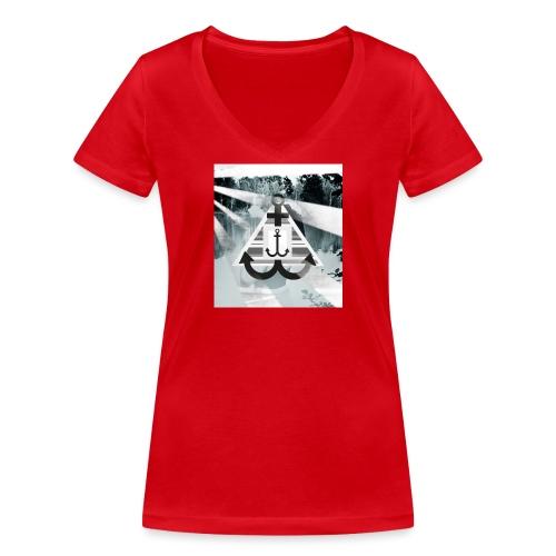 See-Anker - Frauen Bio-T-Shirt mit V-Ausschnitt von Stanley & Stella