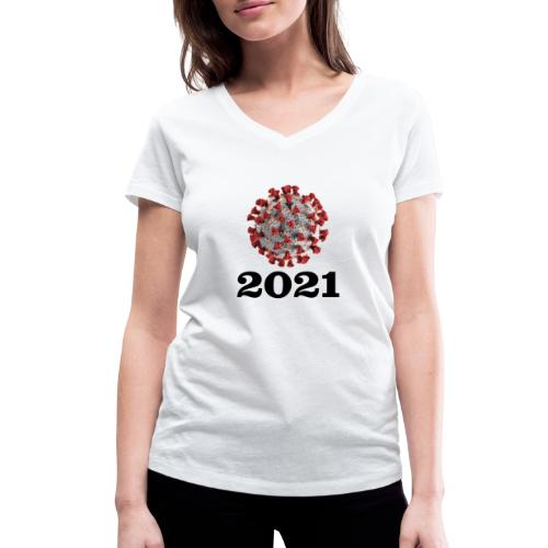 Virus 2021 - Frauen Bio-T-Shirt mit V-Ausschnitt von Stanley & Stella