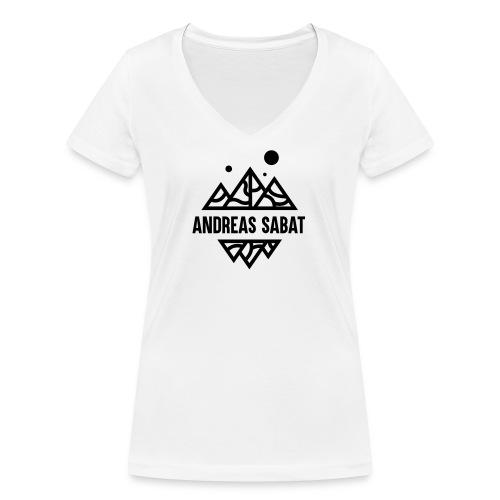 sabat logo black - Økologisk Stanley & Stella T-shirt med V-udskæring til damer