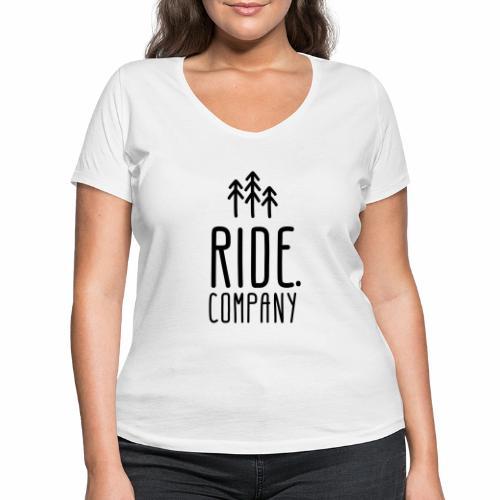 RIDE.company Logo - Frauen Bio-T-Shirt mit V-Ausschnitt von Stanley & Stella