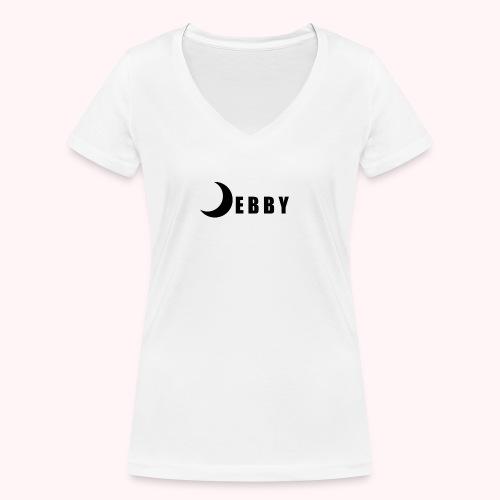 DEBBY - BLACK LOGO - T-shirt ecologica da donna con scollo a V di Stanley & Stella