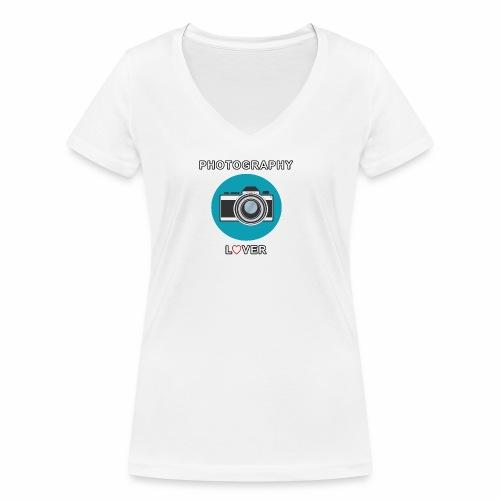 Photography Lover - T-shirt ecologica da donna con scollo a V di Stanley & Stella