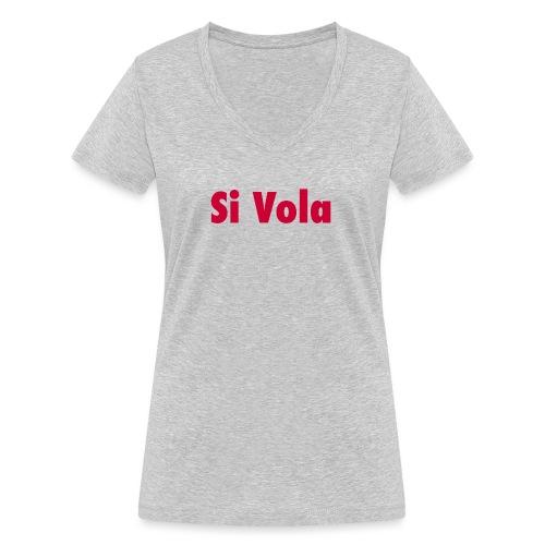 SiVola - T-shirt ecologica da donna con scollo a V di Stanley & Stella