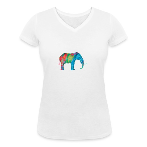 Elefant - Women's Organic V-Neck T-Shirt by Stanley & Stella