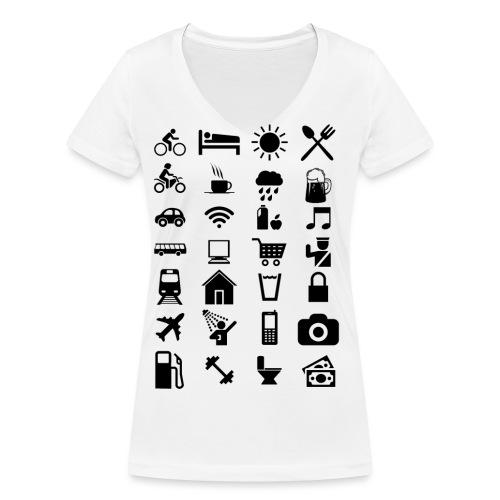 T-shirt de voyage à l'étranger - T-shirt bio col V Stanley & Stella Femme