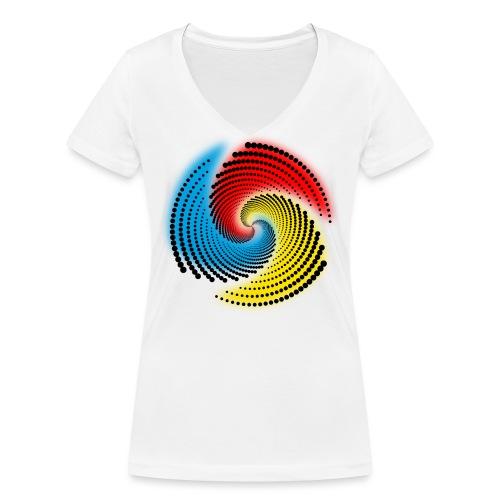 Farbspirale - Frauen Bio-T-Shirt mit V-Ausschnitt von Stanley & Stella