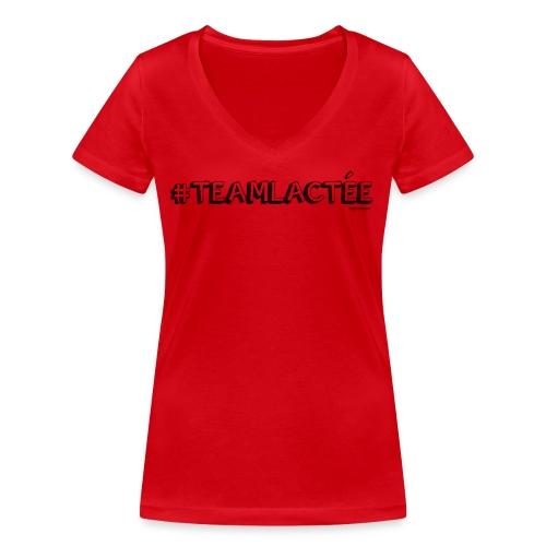 teamlacte e noir - T-shirt bio col V Stanley & Stella Femme