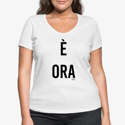 è ora - T-shirt ecologica da donna con scollo a V di Stanley & Stella