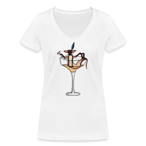 Champagne - Ekologisk T-shirt med V-ringning dam från Stanley & Stella