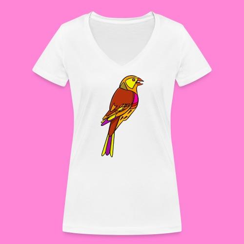 Geelgors illustratie - Vrouwen bio T-shirt met V-hals van Stanley & Stella
