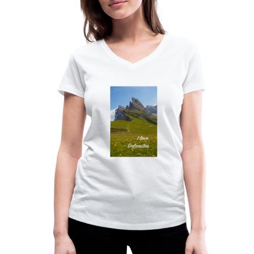 Seceda und Geisler Spitzen - Frauen Bio-T-Shirt mit V-Ausschnitt von Stanley & Stella