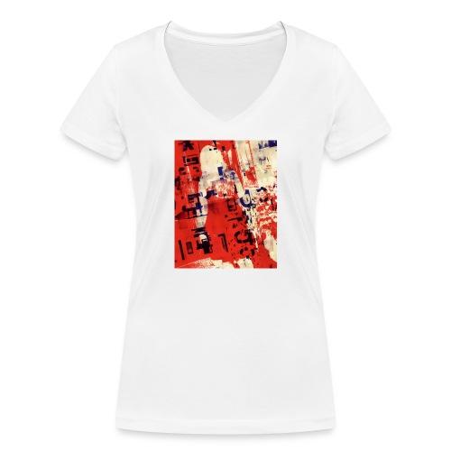 Redqueen - Frauen Bio-T-Shirt mit V-Ausschnitt von Stanley & Stella